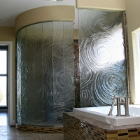 Heavy Art Shower Glass